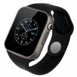 Ceas Smartwatch cu cartela SIM si bluetooth MediaTek A1-Watch Full Black Smartwatch