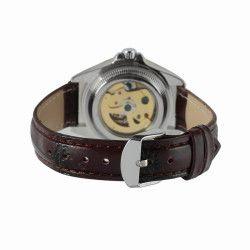 Ceas de dama Winner schelet automatic-mecanic bratara din piele neagra rezistent la zgarieturi stil fashion +