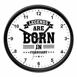 Ceas perete personalizat Legends are born in February Cadouri
