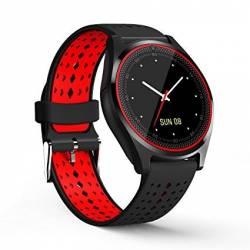 Ceas SmartWatch MediaTek V9 - Black and Red Edition Smartwatch