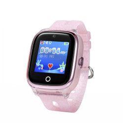 Ceas Smartwatch Pentru Copii Wonlex KT01 cu Functie Telefon Localizare GPS Camera Pedometru SOS IP67 - Roz Pal Smartwatch