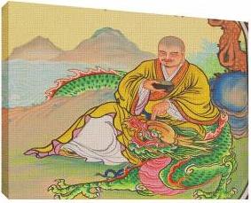 Chinese Gods 1 - Tablou canvas - 70x100 cm Tablouri