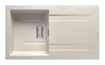 Chiuveta granit Pyramis KARTESIO 860x500 1B1D adancime 200mm reversibila valva dreptunghiulara finisaj bej