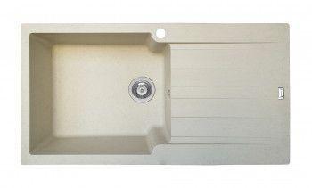 Chiuveta Pyramis SIERRA DUROTHEK 1000x500mm adancime 210mm cuva stanga montare pe blat soft compozit bej