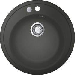 Chiuveta Quartz composite Grohe K200 31656AP0 38 x 38 cm montare pe blat kit montaj si evacuare inclus Granite black