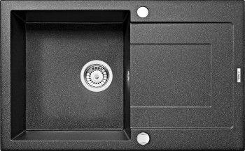 Chiuveta bucatarie granit RAPIDO cu o cuva si picurator ZQK 2113 neagra