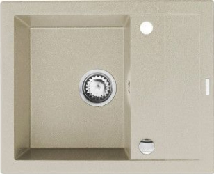 Chiuveta bucatarie Pyramis STUDIO 590x480mm 1 cuva 1 picurator adancime 180mm reversibila Pyragranite bej