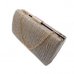 Clutch lurex Tia accesorii auriu champagne Genti de dama
