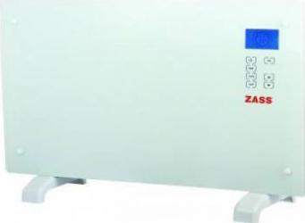 Convector electric de podea Zass ZKG 01 2000W Suprafata de sticla Touch screen Afisaj LCD 3 functii Alb Aparate de incalzire