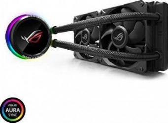 Cooler CPU cu rcire lichid All-in-One ASUS ROG Ryuo 240 cu OLED color Aura Sync RGB si ventilatoare ROG 120mm Coolere componente