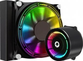 Cooler CPU Gamemax Ice Chill 120 Rainbow sistem de racire cu lichid ARGB