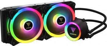 Cooler procesor cu lichid Gamdias Chione M2-240 Lite iluminare RGB Coolere componente