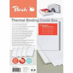 Coperti indosariere termica Peach combinate 5x1.5mm+5x3mm+5x4mm+5x6mm 200gm2 - alb PBT100-14 510689 Articole si accesorii birou