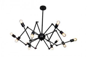 Corp de iluminat decorativ Atom Negru putere 40W Corpuri de iluminat