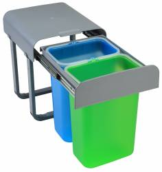 Cos de gunoi incorporabil Aladin cu doua compartimente x 8 litri