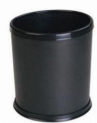 Cos gunoi hotelier RAKI cu inel de prindere sac menajer 24cm negru