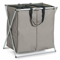 Cos rufe Zeller poliester si cadru aluminiu bej 59x37x58 cm