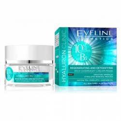 Crema masca de noapte Eveline Hyaluron Clinic 50 ml Creme si demachiante