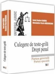 Culegere de teste-grila. Drept penal - Ionut Andrei Barbu Alexandru Florin Magureanu Carti