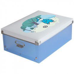 Cutie pentru organizare si depozitare obiecte mici cosmetice fotografii sau suveniruri Culoare Albastru