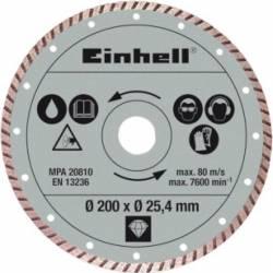 Disc diamantat Einhell 200x25.4 turbo Pentru RT-TC 520 U