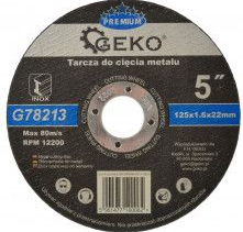 Disc pentru metal 125x1.6mm Inox Geko Premium G78213