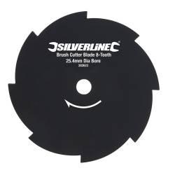Disc metal pentru motocoasa iarba 8 dinti 254mm centru 25.40mm Silverline