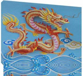 Dragon chinezesc 3 - Tablou canvas - 52x70 cm Tablouri