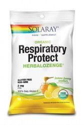 Dropsuri pentru Gat Respiratory Protect cu Gust de Miere si Lamaie 18dr.Solaray Secom