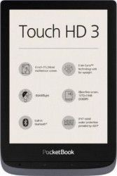 eBook Reader PocketBook Touch HD 3 6inch 16GB LED  WiFi SMARTlight Metallic Grey eBook Reader