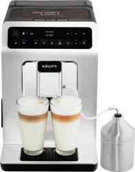 Espressor automat Krups Evidence EA893C10 1450W 15 bari Rezervor boabe Rezervor apa Functie aburi Detector calcar Metal Cromat Resigilat Expresoare espressoare cafea