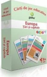 Europa Tari si capitale - Carti de joc educative Carti