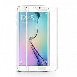 Folie de protectie plastic Full Face pentru Samsung Galaxy S7 Edge margini curbate alb