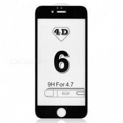 Folie de protectie sticla 4D Iphone 6/6S negru full face
