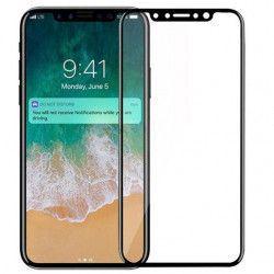 Folie de protectie sticla securizata Full Face pentru Apple iPhone X neagra