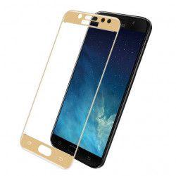Folie de protectie sticla securizata Full Face pentru Samsung Galaxy J7 2017 / J730 auriu