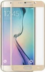Folie de Protectie Tellur Tempered Glass 3D cu Margini Curbate pentru Samsung Galaxy S6 Edge Plus Aurie