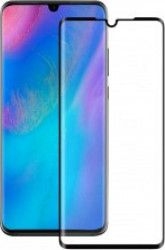 Folie Huawei P30 Eiger Sticla 3D Edge to Edge Clear Black Folii Protectie