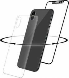 Folie iPhone X Eiger Sticla 3D 360 Clear Black 0.33mm 9H curved folie sticla spate inclusa
