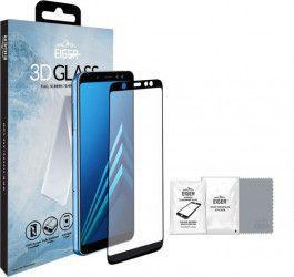 Folie Samsung Galaxy A6 2018 Eiger Sticla 3D Edge to Edge Clear Black