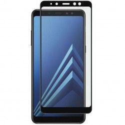 Folie sticla 5D Full Glue pentru Samsung Galaxy A8 Plus 2018 Negru