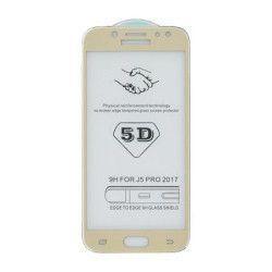 Folie sticla 5D Gema pentru Samsung Galaxy J5 2017 auriu