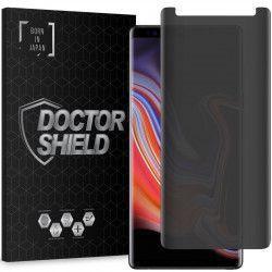 Folie Sticla Dr.Shield Samsung Galaxy Note 9 Protectie Profesioanala Ecran 3D Utilizabila cu husa Model Privacy Anti-Spionaj - Negru