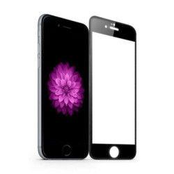 Folie sticla Full Face pentru iPhone 6 Plus / 6S Plus margini colorate neagra