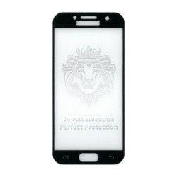 Folie sticla full size cu adeziv pe toata suprafata Gema pentru Samsung Galaxy A3 2017 negru