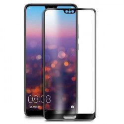 Folie sticla securizata 5D Full Glue pentru Huawei P20 Negru