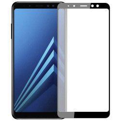 Folie sticla securizata 5D Full Glue pentru Samsung Galaxy A8 2018 Negru