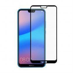 Folie sticla securizata Full Size Full Glue pentru Huawei P20 Lite Acopera tot ecranul lipici pe toata suprafata black