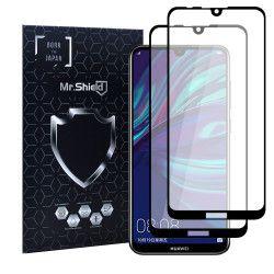 Folie Sticla Dr.Shield Huawei Y7 2019 Set 2 Bucati Protectie Profesioanala Ecran 3D Full Cover- Negru