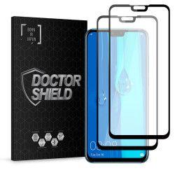 Folie Sticla Dr.Shield Huawei Y9 2019 Set 2 Bucati Protectie Profesioanala Ecran 3D Full Cover- Negru